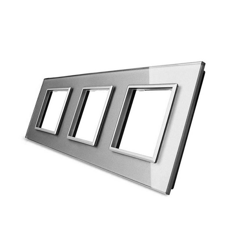 Frontal cristal gris 3x huecos