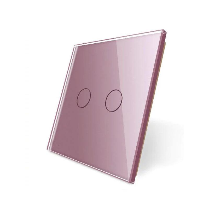 Frontal 1x cristal rosa, 2 botones