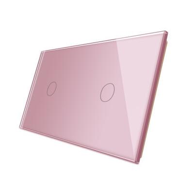 Frontal 2x cristal rosa, 2 botones