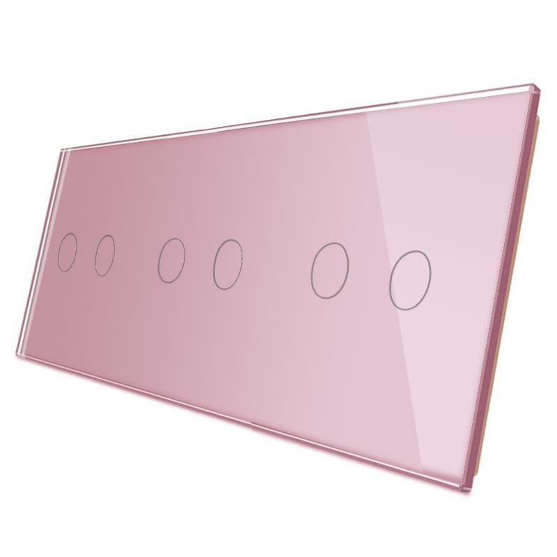 Frontal 3x cristal rosa, 6 botones