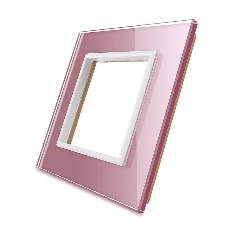 Frontal vidro rosa 1x oco