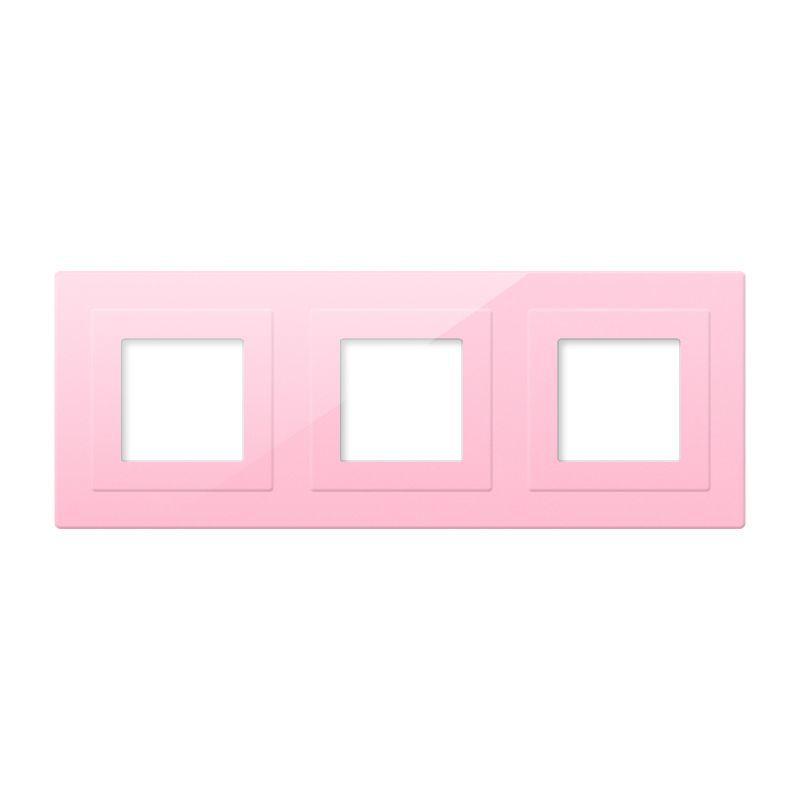 Frontal cristal rosa 3x huecos