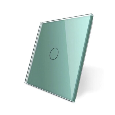 Frontal 1x cristal verde, 1 botón