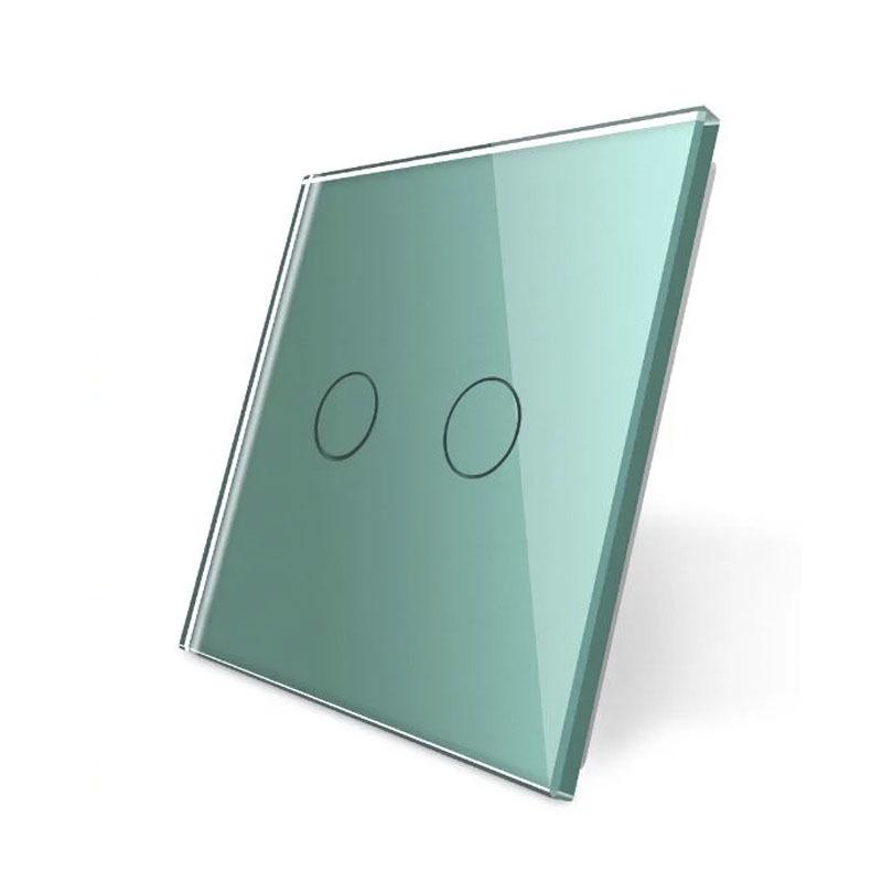 Frontal 1x cristal verde, 2 botones