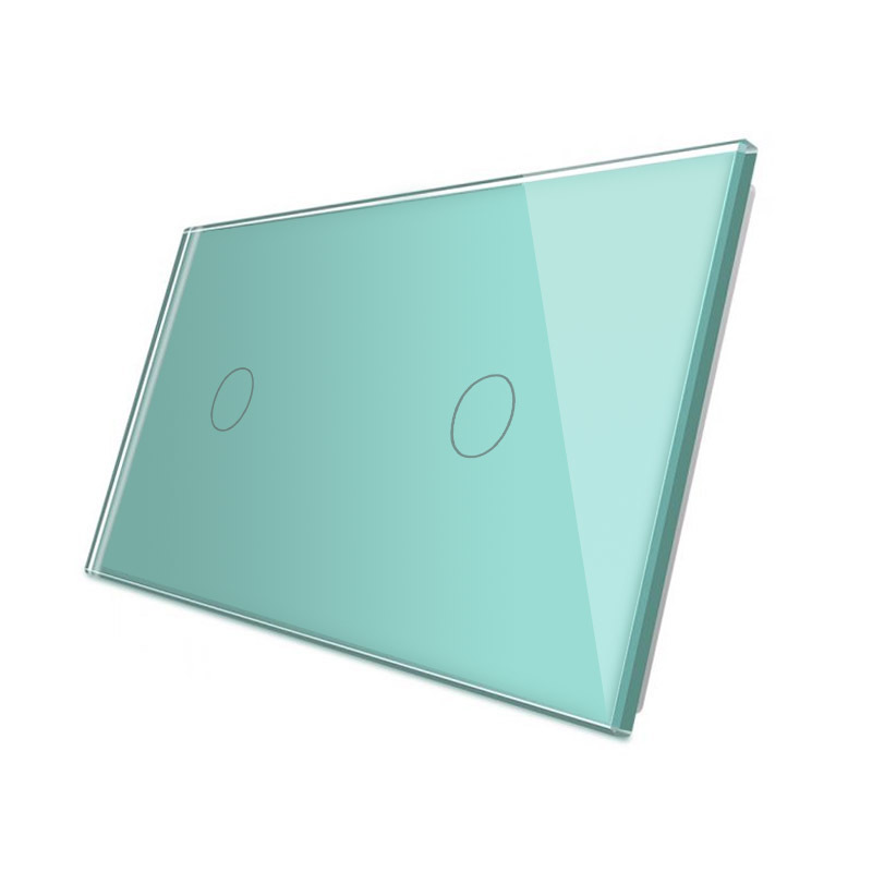 Frontal 2x cristal verde, 2 botones