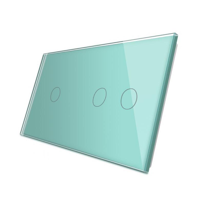 Frontal 2x cristal verde, 3 botones