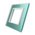 Frontal cristal verde 1x hueco