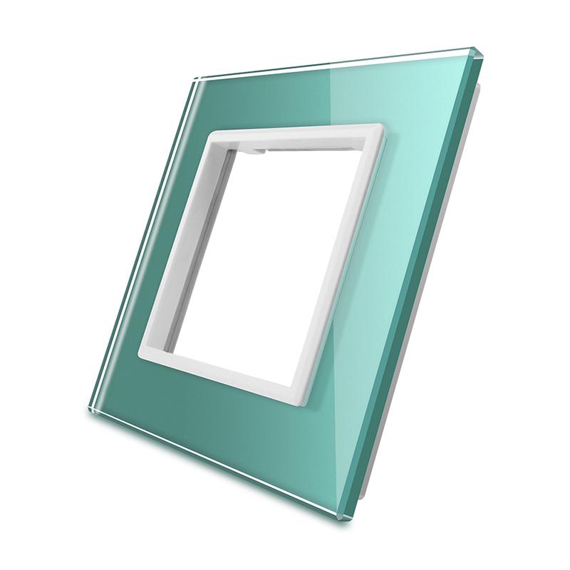 Frontal vidro verde 1x oco
