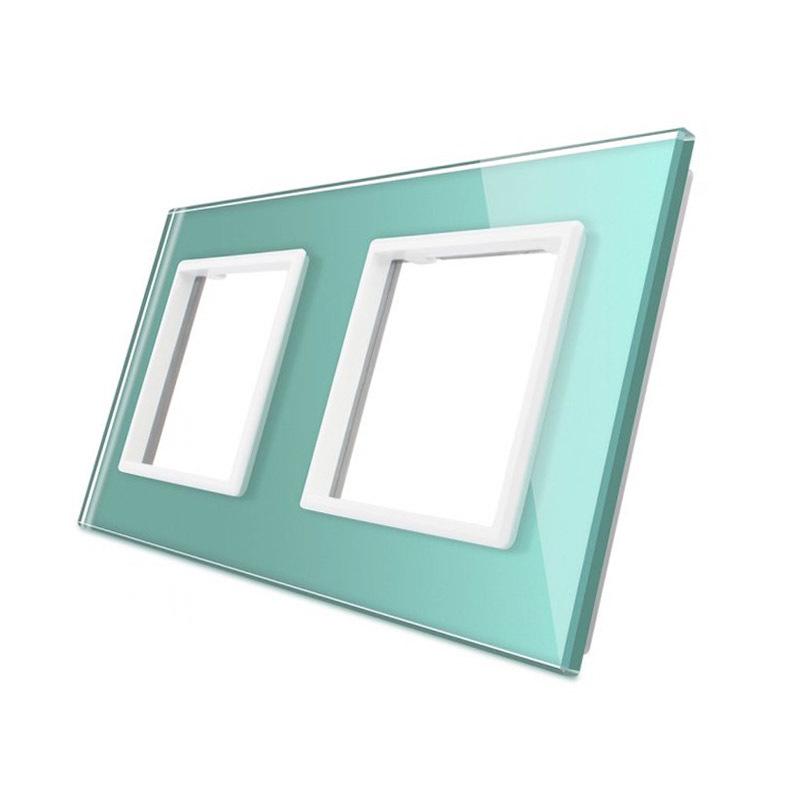 Frontal cristal verde 2x huecos