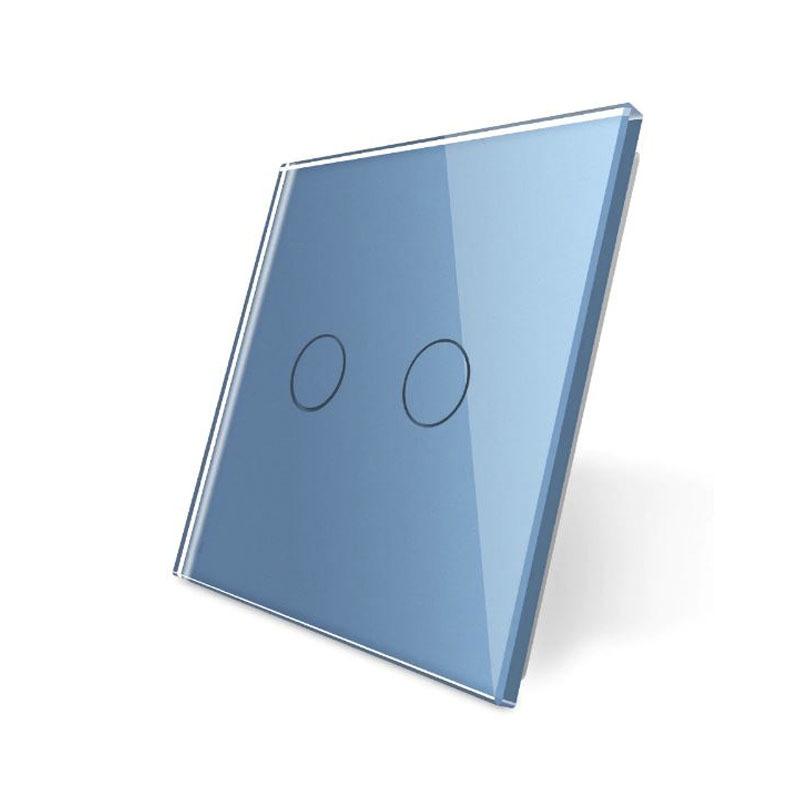 Frontal 1x cristal azul, 1 botón
