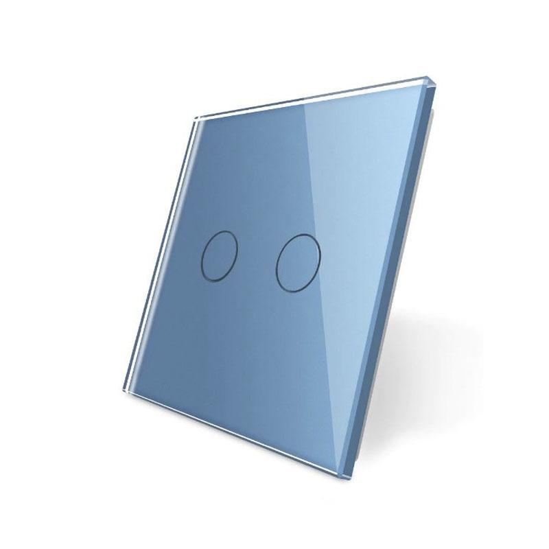 Frontal 1x cristal azul, 2 botones