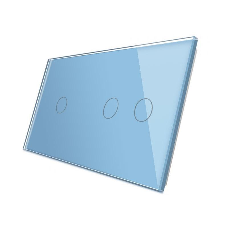 Frontal 2x cristal azul, 3 botones