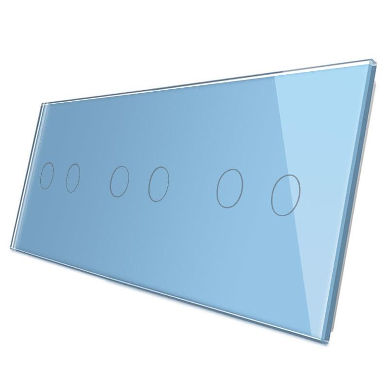 Frontal 3x cristal azul, 6 botones