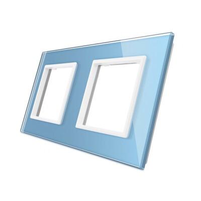Frontal cristal azul 2x huecos