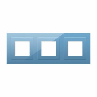Frontal cristal azul 3x huecos