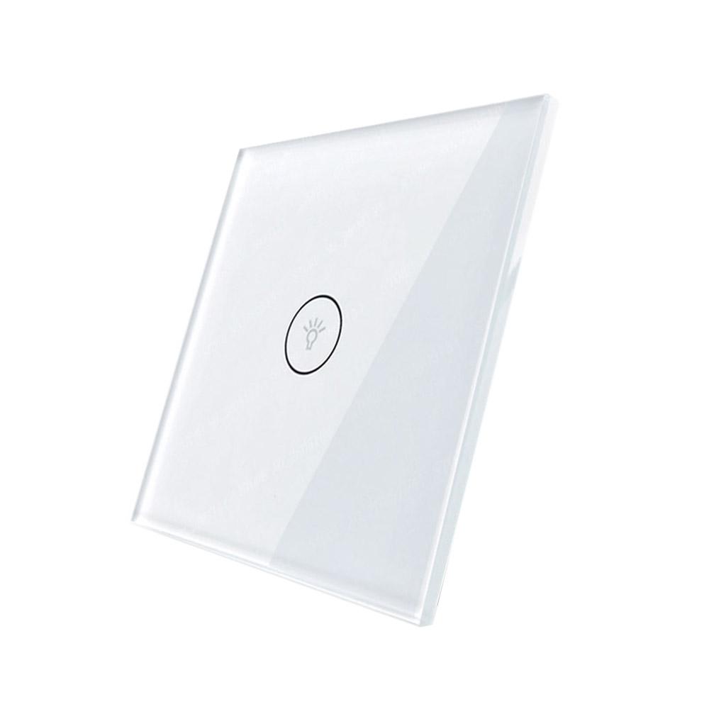 Frontal 1x cristal blanco, 1 botón