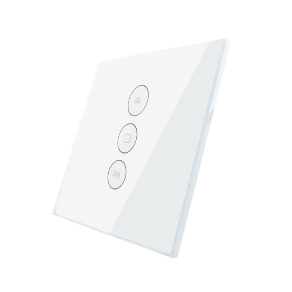 Frontal persianas cristal blanco, 3 botones