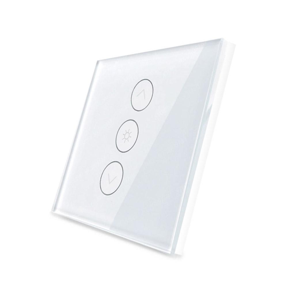 Frontal persianas cristal blanco, 3 botones dimmer
