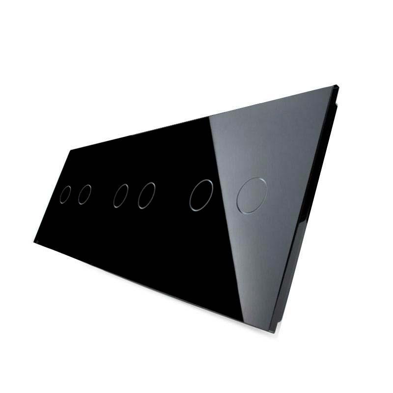 Frontal 3x cristal negro, 6 botones