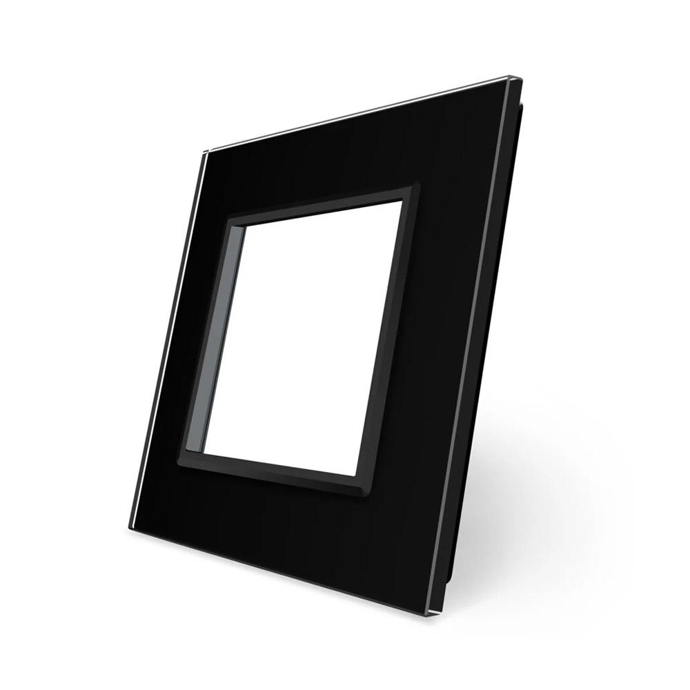 Frontal 1x cristal negro, 1 enchufe