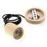 Cable decorativo KALL WOOD colgante para techo, cable blanco/negro