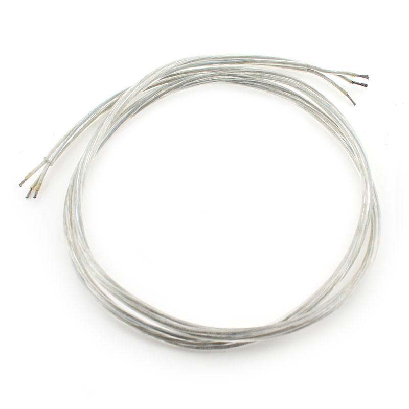 Cable redondo transparente 3x1mm silver, 1,2m