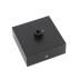 Florón cuadrado negro, 80x80mm, Ø6mm