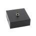 Florón cuadrado negro, 80x80mm, Ø3mm