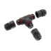 Conector T IP67, 80mm, Ø7-4mm, 3 cabos 0.5-2.5mm2, 16A