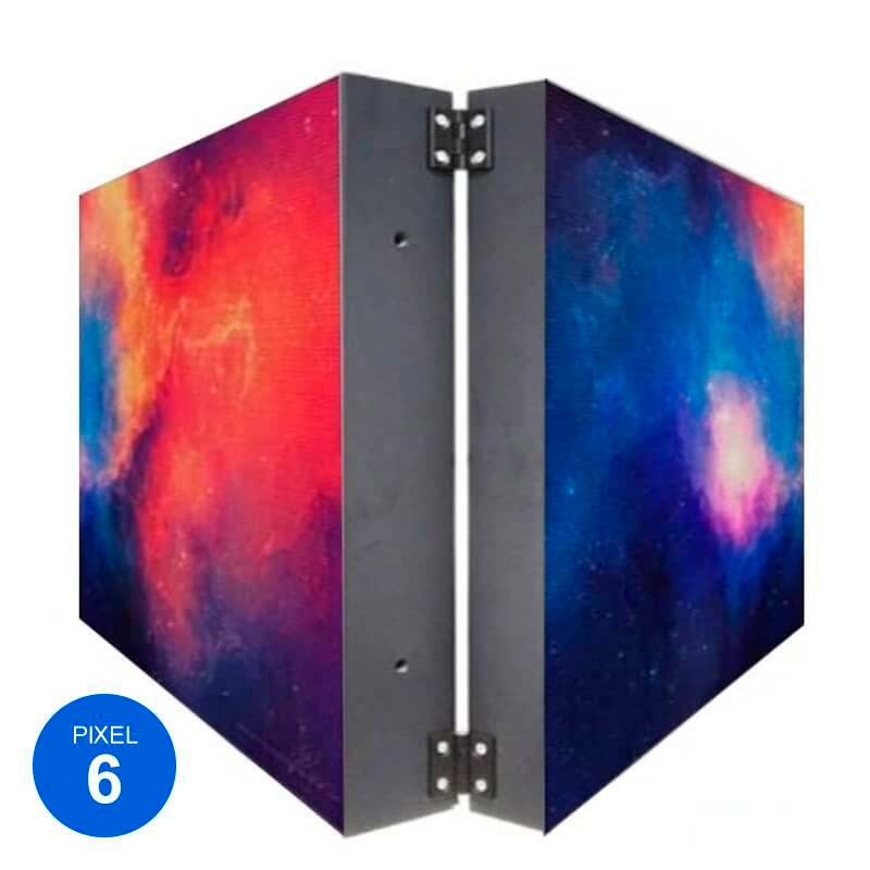 Rotulo Led Dupla Cara RGB Pixel 6, 57x57cm
