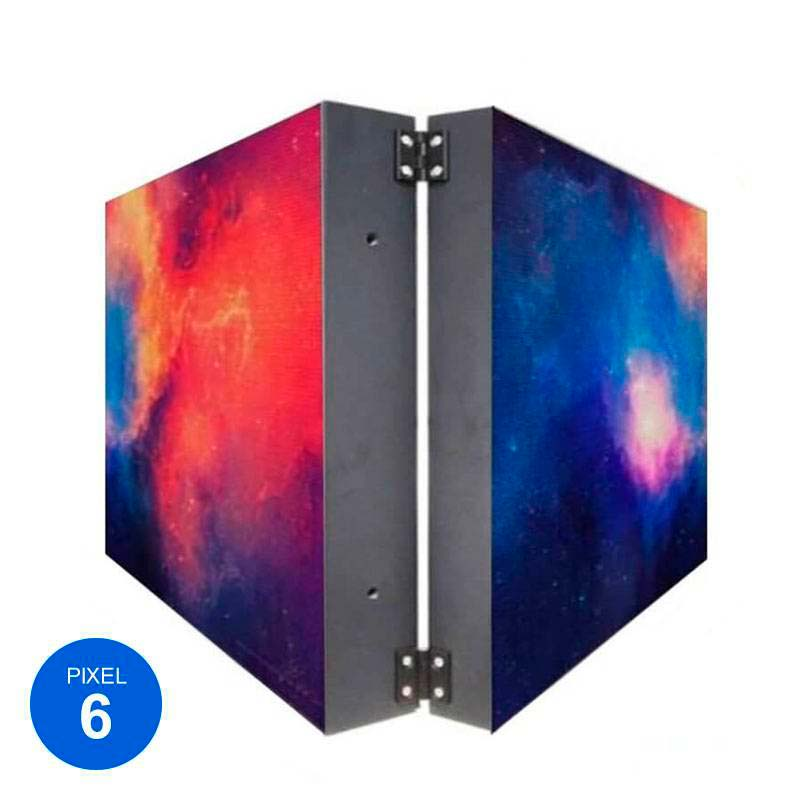 Rotulo LED Dupla Cara RGB Pixel 6, 76x57cm