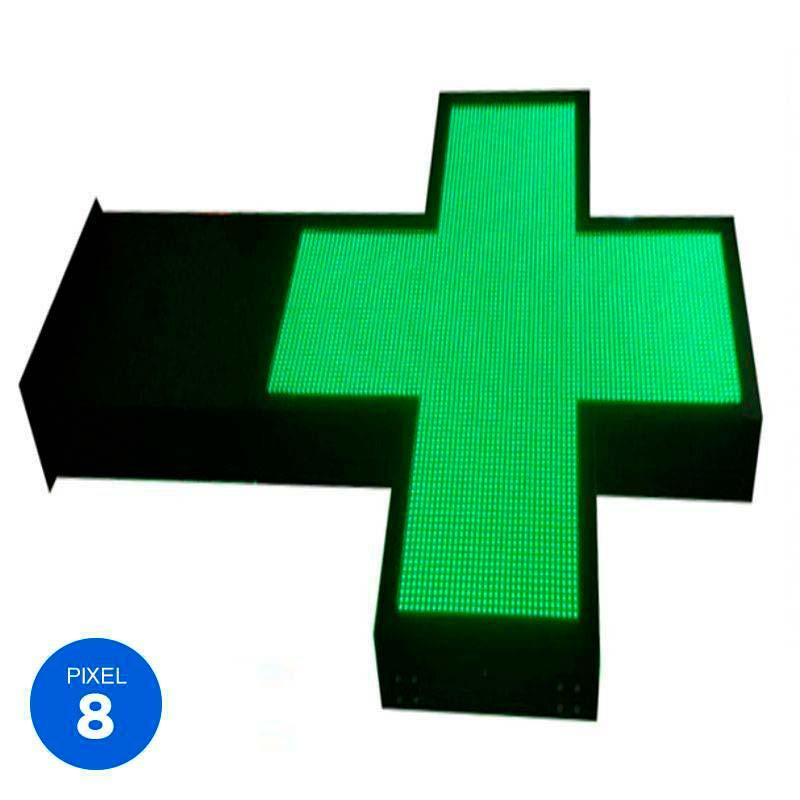 Rótulo Led Farmacia RGB Pixel 8 doble cara