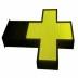 Rótulo LED Farmacia RGB Pixel 6 doble cara