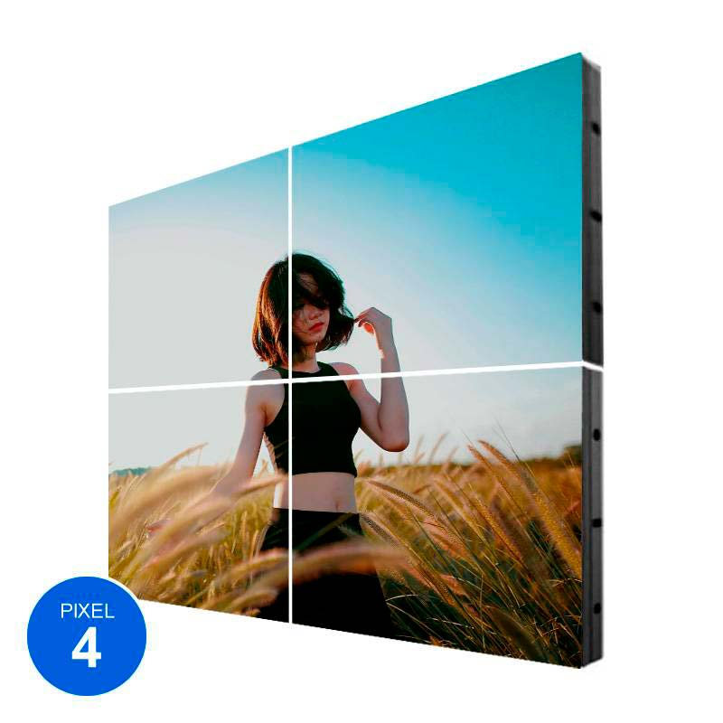 Pantalla LED Interior, Pixel 4, RGB, 1.22m2, 4 Módulos + Control