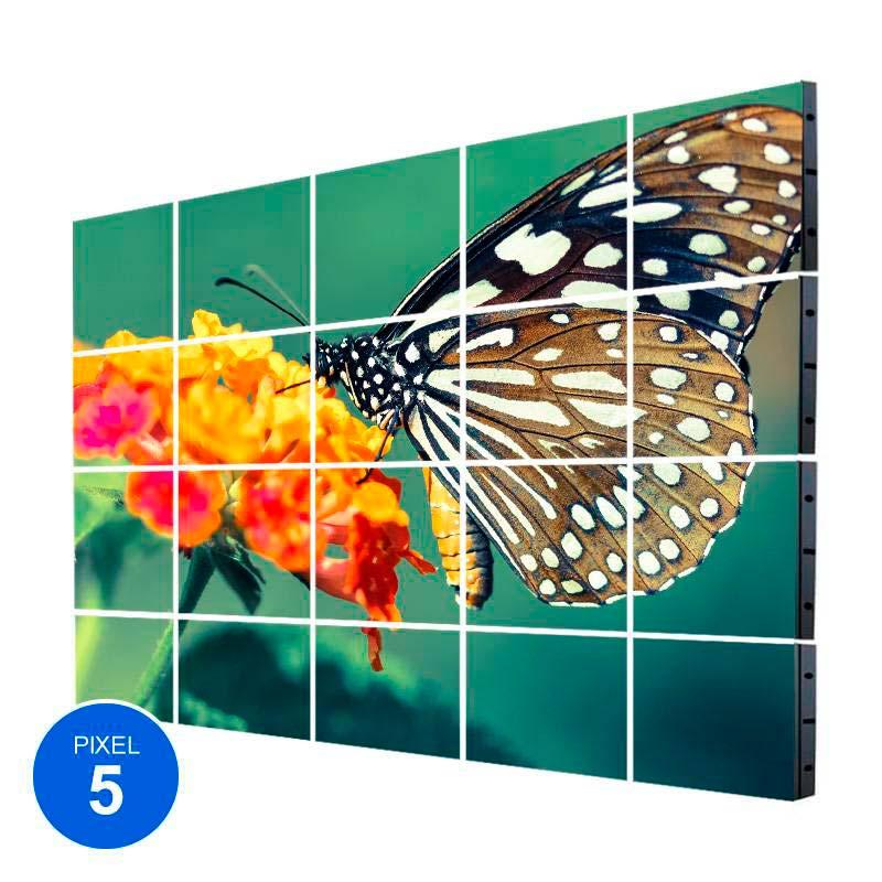 Ecrã Led Interior, Pixel 5, RGB, 6.14m2,  20 Modulos + Controle