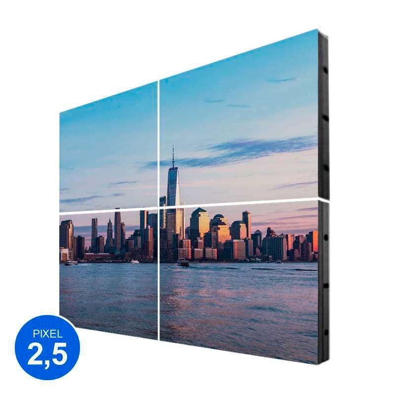 Pantalla LED Interior, Pixel 2.5, RGB 1.22m2, 4 Módulos + Control