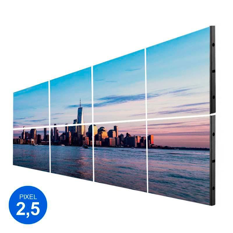 Ecrã LED Interior, Pixel 2.5, RGB 2.45m2, 8 Modulos + Controle