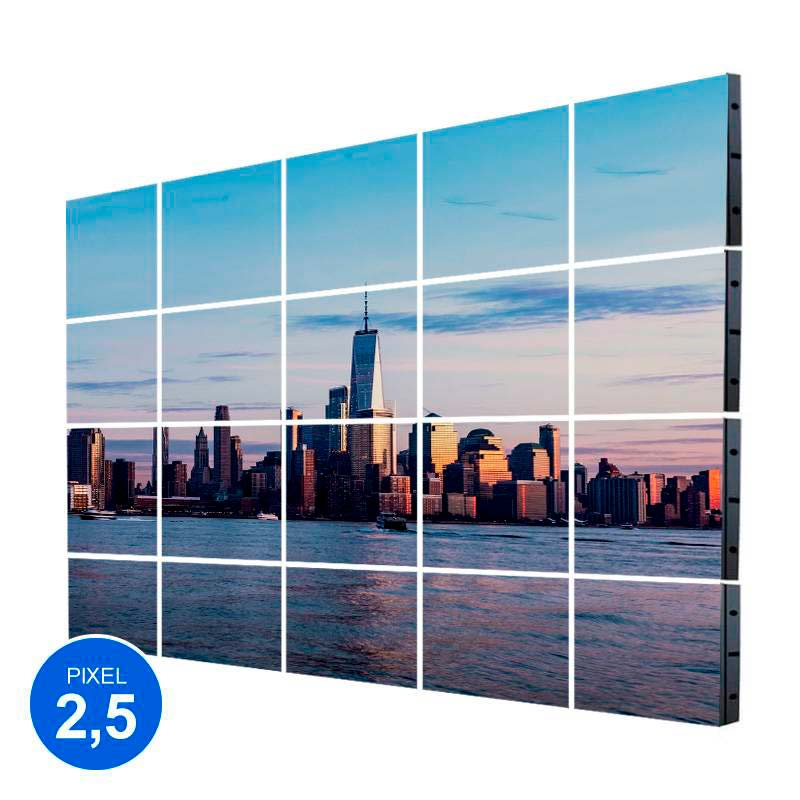 Pantalla LED Interior, Pixel 2.5, RGB 6.14m2, 20 Modulos + Control
