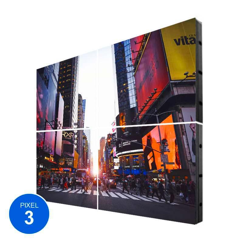 Ecrã LED Interior, Pixel 3, RGB, 1.22m2, 4 Modulos + Controle
