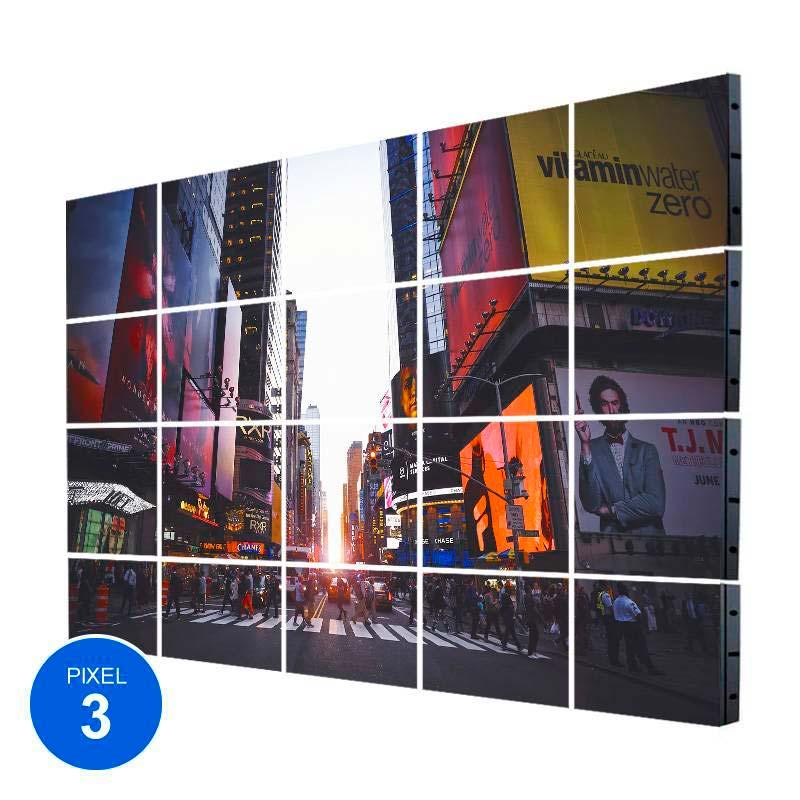 Ecrã LED Interior, Pixel 3, RGB, 6.14m2, 20 Modulos + Controle
